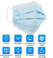 10/20/30/50pcs 3 Ply Face Mask Disposable Protective Safety Masks Anti-Dust Mask Anti Pollution Non-Woven Mouth Mask N95 Mask 4