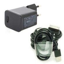 Carregador de parede para tablet, 5v/2a eu, para samsung galaxy tab 2 10.1 GT-P1000 p5100 p5110 p51 13 p3100 cabo de dados p3110 p6800 n8000
