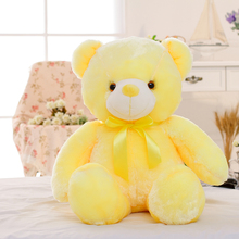 Plush-Toy Pillow Teddy Light-Up Glowing Bear-Stuffed New LED for Kids 50cm Christmas-Gift