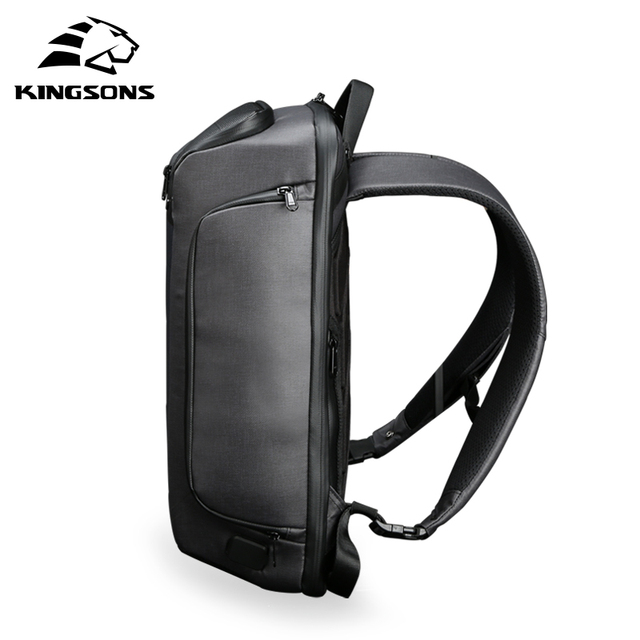 Kingsons new multifunctional solar charging anti-theft backpack men's 15-inch USB charging travel bag high-end upgraded version 4