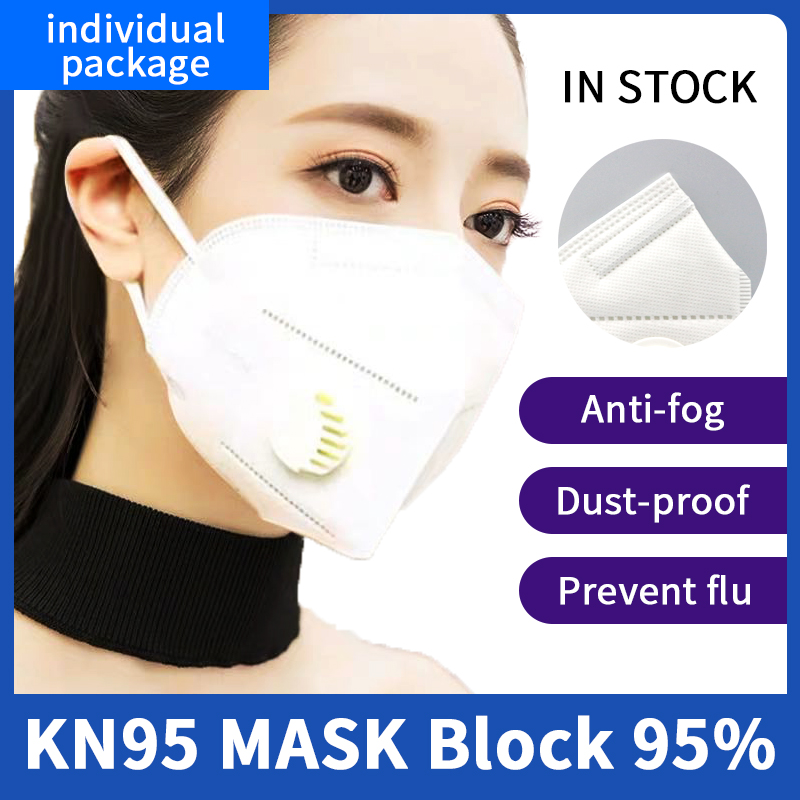 KN95 Anti-dust Masks FFP2 Dust Mask N95 Anti PM2.5 Face Mouth Masks Anti-Fog Air Filter Dust Proof Adult Protection With Valve
