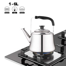 Whistling Teapot Electric-Cooker Water-Kettle Induction Stainless-Steel Thicken for 1-6L