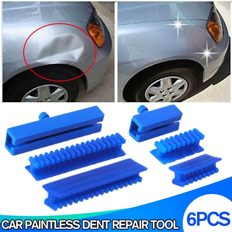 6pcs/set Slide Hammer Tool Puller Lifter Kit Blue Puller Labels Car Paintless Dent Removal Sheet Metal Repair Tools