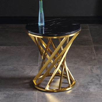 Creative Marble Sofa Stainless Steel Frame Side Table  2