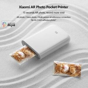 Image 5 - Карманный мини принтер Xiaomi Mijia AR, 300 точек/дюйм, 500 мАч