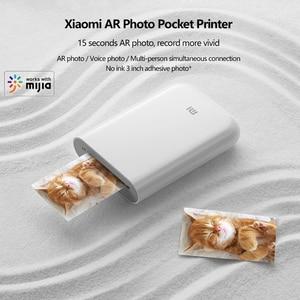 Image 5 - חדש Xiaomi Mijia AR מדפסת 300dpi נייד תמונה מיני כיס עם נתח DIY 500mAh תמונה מדפסת כיס עבודה עם Mijia APP