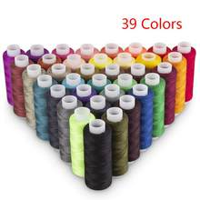 39Pcs Mixed Colors Polyester Yarn Sewing Thread Roll Machine Hand Embroidery 160 Yard Each Spool For Home Sewing Kit