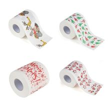 QIAOYAN Christmas Pattern Printing Roll Toilet Paper Household Tissue Bathroom Web
