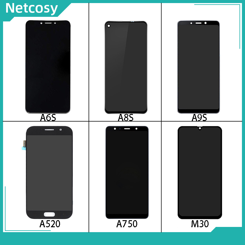 LCD <font><b>Display</b></font> Touch screen digitizer assembly For Samsung Galaxy A6S G6200/<font><b>A8S</b></font> G8870/A9S A9200/A5 2017 A520/A7 2018 A750/M30 image