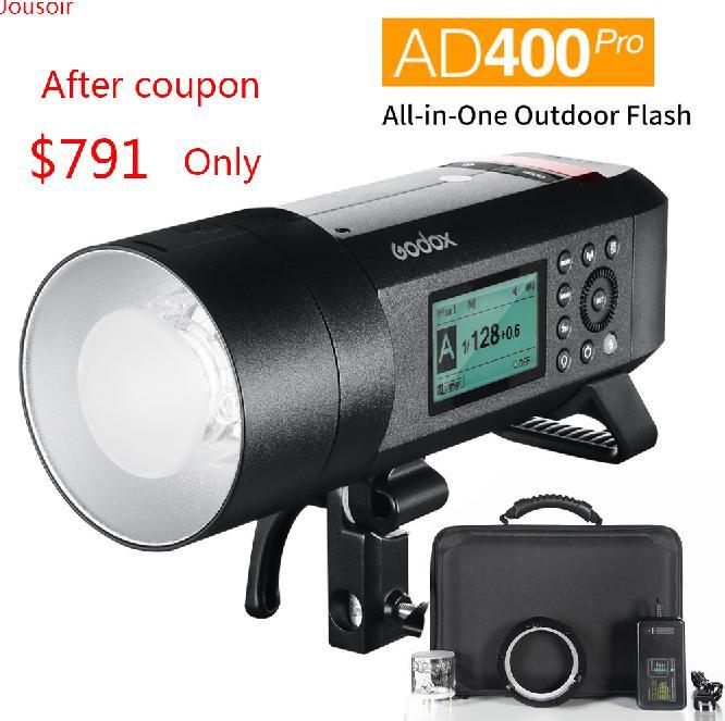 Godox AD400 Pro WITSTRO todo en uno al Aire Libre Flash AD400Pro batería li-on TTL HSS con incorporado 2,4G inalámbrico X sistema CD50 T03Y