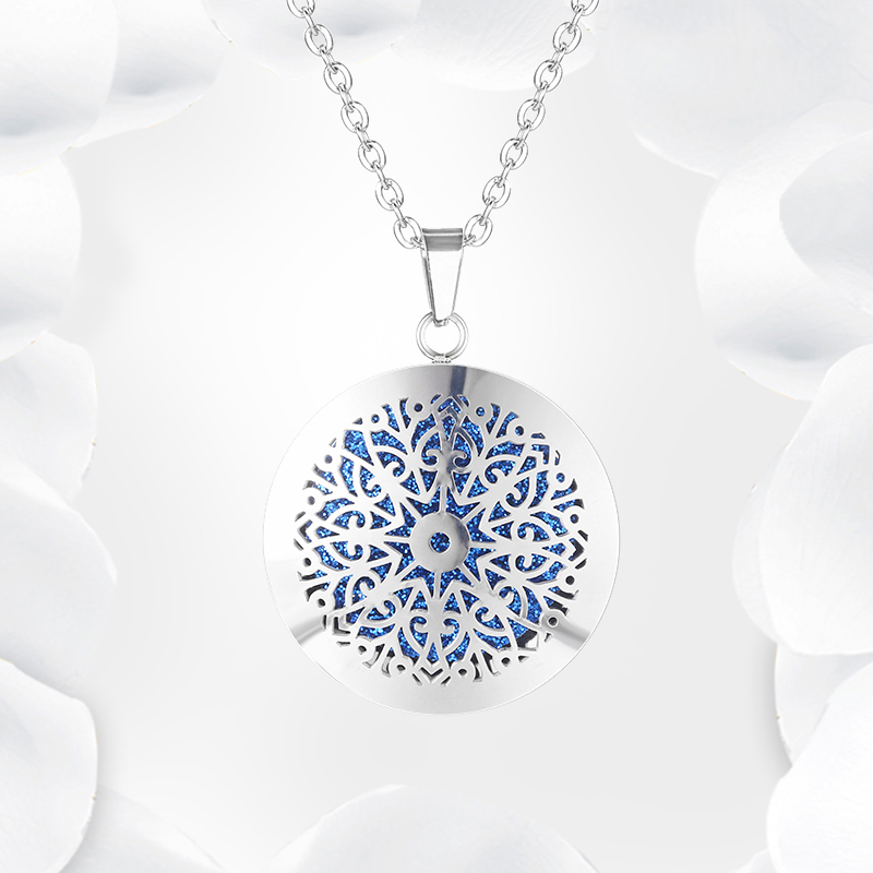 Aromatherapy Essential Oil Diffuser Locket Necklace (52)