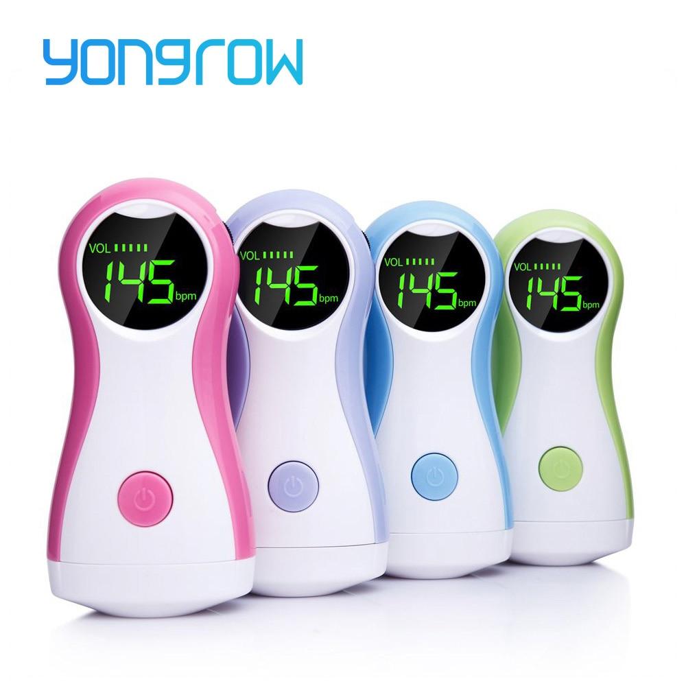 Yongrow Fetal Doppler Baby Monitor LCD Display Tragbare Baby Herz Rate Monitor Mit Kopfhörer YK-90C Für Schwangere Frauen