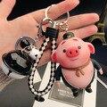 Echtes Cartoon Nettes Schwein Kleine Fart Puppe Keychain Männer frauen Paare Auto Schlüssel Kette Handtasche Anhänger Ornamente-in Schlüsseletui für Auto aus Kraftfahrzeuge und Motorräder bei