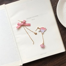 New Creative Japanese And Korean Simple Bow Heart-Shaped Earrings Unicorn Best Jewelry For women fashion jewelry birthday gift