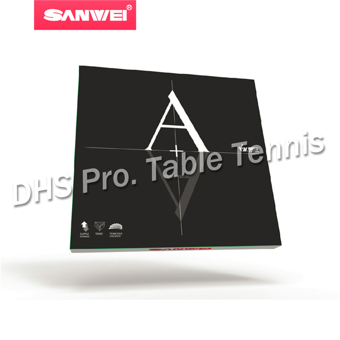 Sanwei A+ (Non-Tacky) Pips-in Table Tennis / Pingpong Rubber With Sponge