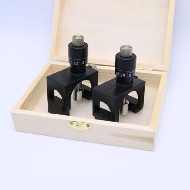 2pc Einstellbare Magnet Hobel Klinge Cutter Kalibrator Einstellung Jig Gauge Holzbearbeitung Cutter Werkzeug S mit Holz Box heblarka