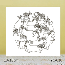ZhuoAng Smiling Unicorn Clear Stamps For DIY Scrapbooking/Card Making/Album Decorative Silicon Stamp Crafts zhuoang landscape painting clear stamps for diy scrapbooking card making album decorative silicon stamp crafts