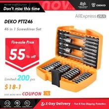DEKO 46 ב 1 מברג סט פיליפס/מחוררת ביטים עם מגנטי רב כלי תיקון מכשירי חשמל לבית יד כלים קיט