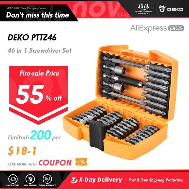 DEKO 46 في 1 مفك مجموعة فيليبس/مشقوق بت مع المغناطيسي متعددة أداة الأجهزة المنزلية إصلاح مجموعة أدوات يدوية