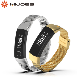 For Honor Band 3 4 5 Strap Smart Wristband Bracelet Metal Milanese Wrist Smart Watch Honor Band 4 for Huawei Honor Band 5 Strap for honor band 5 strap metal wrist bracelet for honor band 4 watch leather silicone strap for huawei honor band 4 5 wristbands