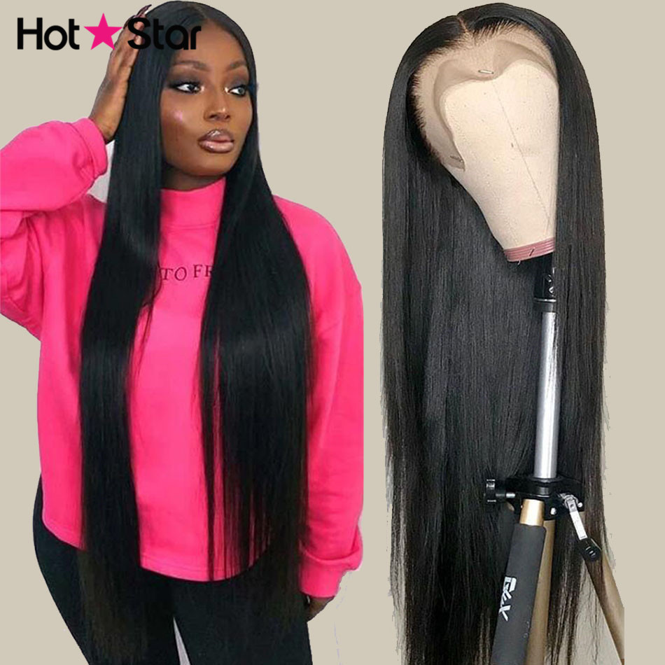 Парики женские прямые из натуральных волос, 13x4, 13x6, 150% дюймов