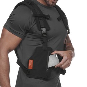 Image 2 - Multi function Tactical Chest Bag Vest Outdoor Sports Fitness Men Protective Reflective Tops Vest Oxford Phone Waistcoat