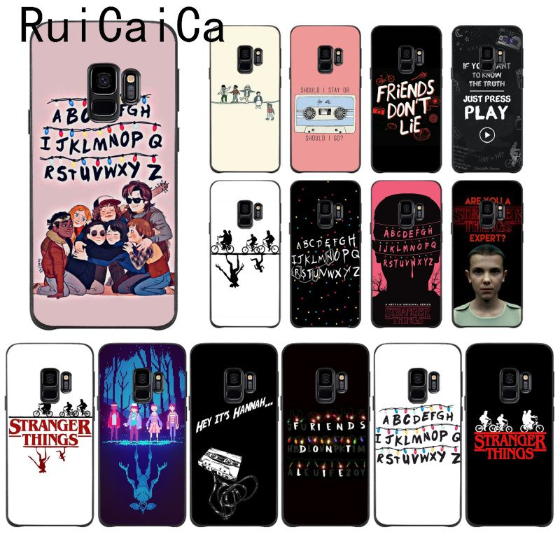 Ruicaica should stay should Stranger Things Coque Shell Phone <font><b>Case</b></font> for <font><b>Samsung</b></font> Galaxy S9 plus S7 edge <font><b>S6</b></font> edge plus S10 S8 plus image