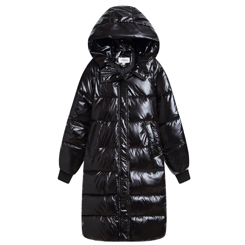 Hooded Ladies Coat Long Coats Parka Oversize Colour Jacket Long Women Winter Thick Jacket Down Cotton Jacket Women Winter