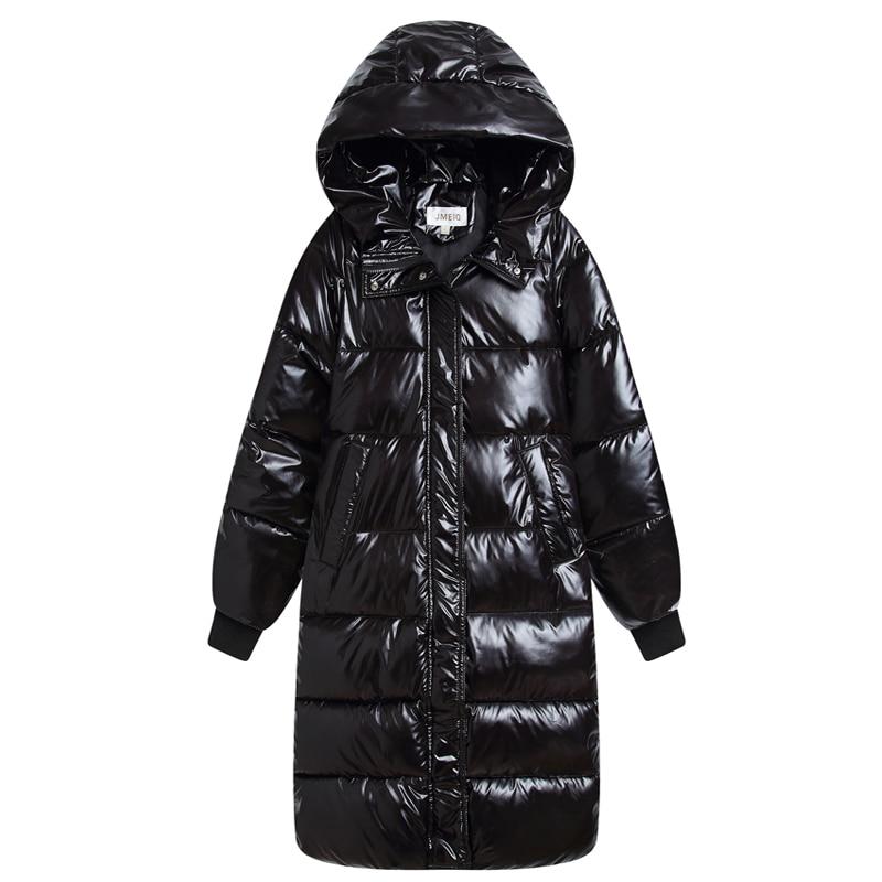 Hooded Ladies Coat Long Coats Parka Oversize Colour Jacket Long Women Winter Thick Jacket Down Cotton Jacket Women Winter