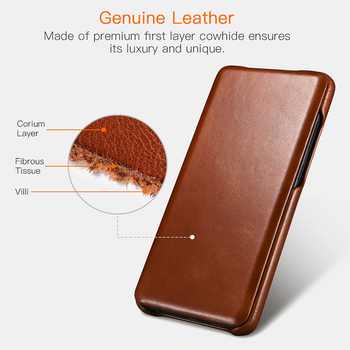 Genuine Leather Flip Case for Samsung Galaxy S20 ultra S10 S9 Note 8 Luxury Protective Phone Cover For Sumsung S20 Plus S10 S9 2