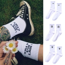 New Autumn Letter Knitted Middle Tube Cotton Socks For Men And Women
