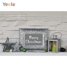 Yeele Christmas Photocall Ins Bricks Wall Candles Photography Backdrops Personalized Photographic Backgrounds For Photo Studio