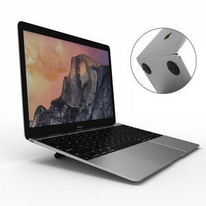 Image 4 - ユニバーサルラップトップホルダー黒折りたたみポータブルラップトップスタンド、サポート7 17インチノートブック、macbook airはproのノートクーラースタンド