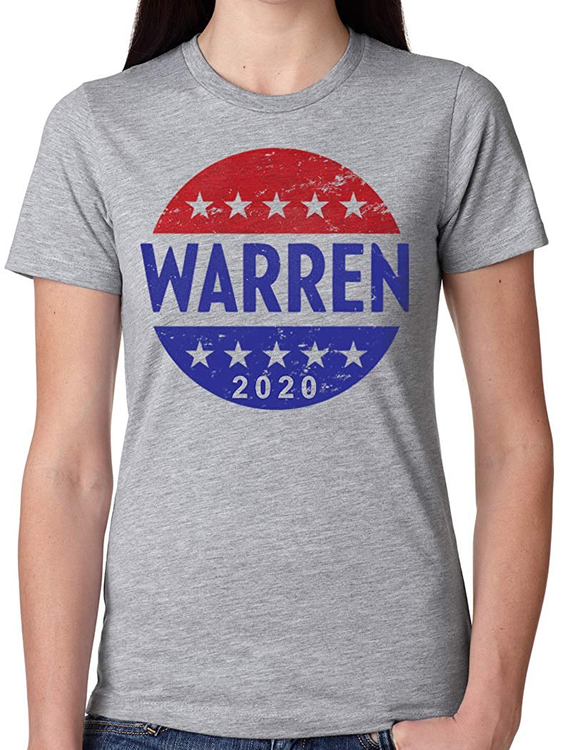 Mashed Clothing Warren 2020 Presidential Election 2020 Toddler//Kids Short Sleeve T-Shirt Star
