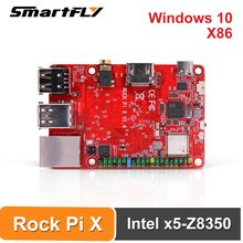 Smartfly tech rock pi x b 4gb com dissipador de calor sbc intel atom x5-Z8350 cherry trail x86 computador de placa única (sem win10)