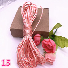 Strap Waxed Cord Jewelry-Making Mauve Rope-Beads Cord-String for Necklace