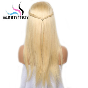 Image 5 - Sunnymay 613 13x4 13x6 Lace Front Wig With Baby Hair Pre Plucked Blonde Wig Remy Hair Glueless Lace Wig Bleached Knots For Women