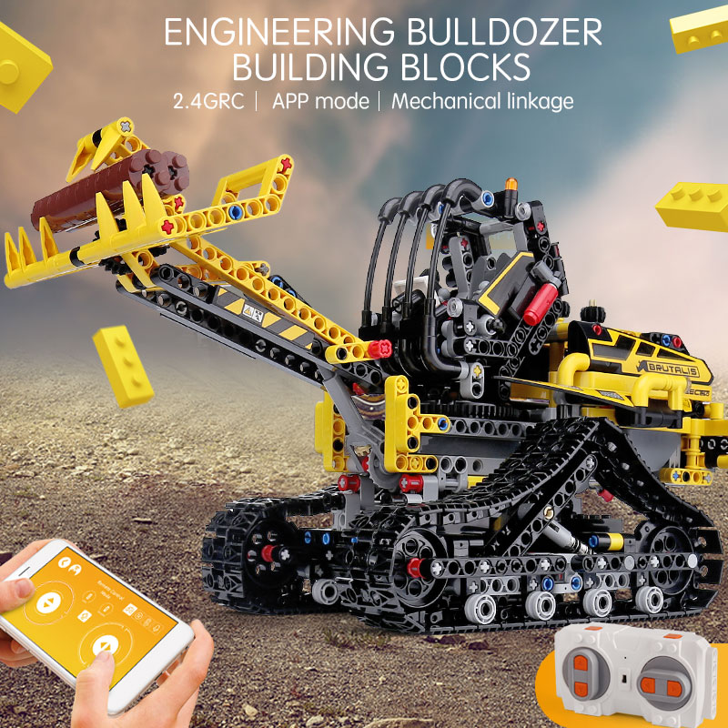RC Motor Function APP Remote Truck Control Technic Car 42094 Tracked Loader Set Kids Building Blocks Car Model Toys