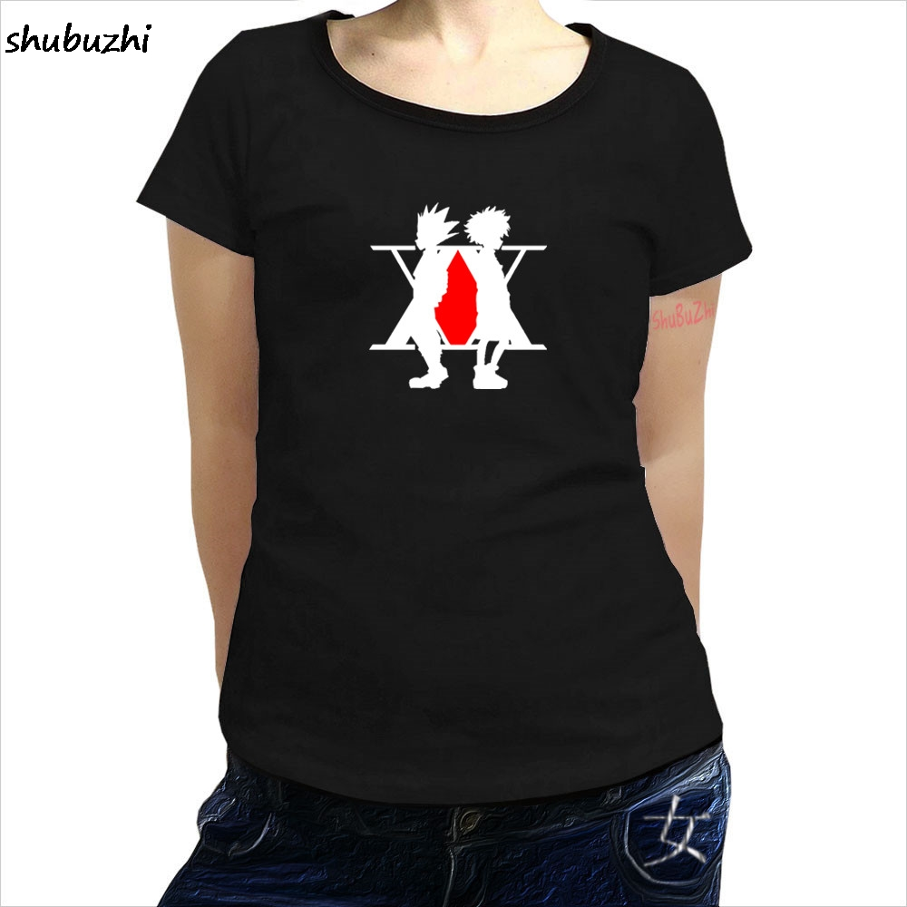 HUNTER X HUNTER <font><b>MANGA</b></font> JAPAN LOGO <font><b>UNISEX</b></font> BLACK PH160 women T-<font><b>SHIRT</b></font> Print T-<font><b>Shirt</b></font> Short <font><b>Tee</b></font> <font><b>Shirt</b></font> Homm Tshirt female Funny sbz3309 image