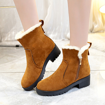 Women boots non-slip winter ankle snow boots women platform winter shoes with thick botas mujer