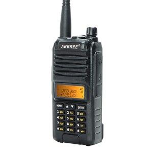 Image 5 - 2020 Abbree AR F3 Tri Band 8w Walkie Talkie uhf vhf 220 260MHz ham lungo raggio palmare two way radio cb Ricetrasmettitore Da Trekking uv 5r