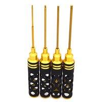 Multi uso 4 pçs hex chave de fenda soquete conjunto ferramenta para bicicleta rc drone/carro/robô ferramentas reparo kit hex chave|Chave de fenda| |  -