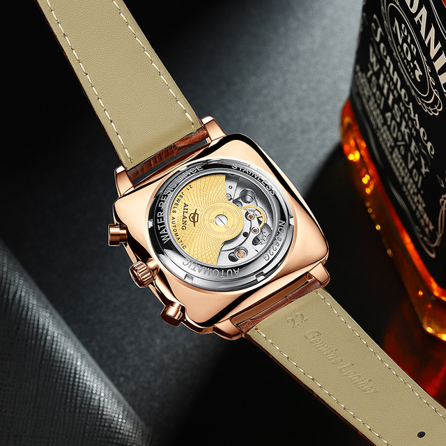 swiss famous brand watch montre automatique luxe chronograph Square Large Dial Watch Hollow Waterproof New mens fashion watches 5