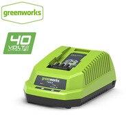 Aletler'ten Elektrikli Alet Aksesuarları'de Ücretsiz kargo Lityum pil şarj cihazı GreenWorks 29482 G MAX 40V Li Ion Şarj Cihazı için 40V pil 29472
