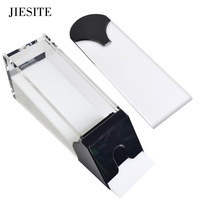 JIESITE HOT Professional Ordinary Acrylic Card Shoe Transparent Black 1 8 pack Pokers Manual Card Shoe with Cover