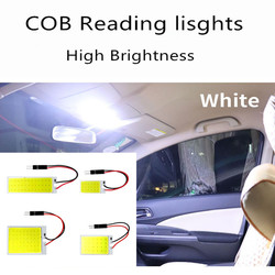 1Pcs Auto Leeslamp Cob 48 Smd Chip Led T10 Lamp Led Parkeer Auto Interieur Panel Licht Festoen auto Accessoires