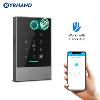 Smart Phone Bluetooth TTlock App Control Door Access Control System Fingerprint Card Reader