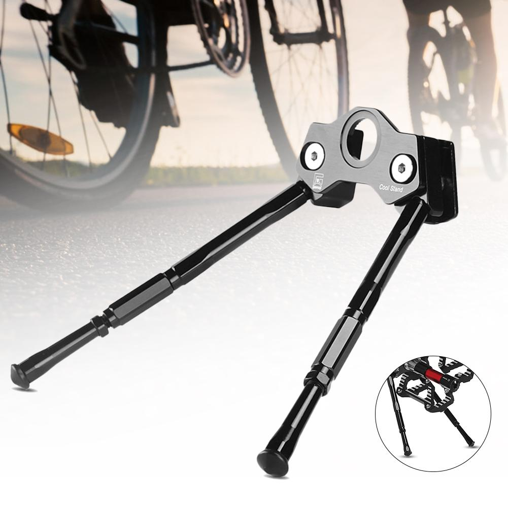 New High-quality Aluminum Alloy Bicycle Kickstand Adjustable Aluminium Bike Side Accessories Wholesale