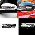 Автомобильный Стайлинг 2 шт. наклейка в полоску Зеркало заднего вида украшения Стикеры для Opel Corsa-b Astra модели Insignia, Meriva Zafira Mokka Grandland