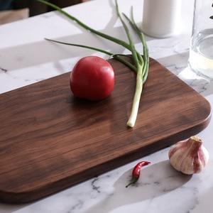 Image 3 - Siyah ceviz tüm ahşap mutfak katı ahşap anaç Lacquerless meyve kesme tahtası ahşap kesme tahtası kesme tahtası